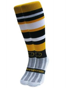 WackySox Rugby, Hockey Socks - Amber Gambler Knee Length Socks